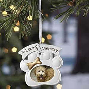 #!Cheap Loving Memory Dog Memorial Christmas Ornament Photo