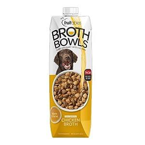 Fruitables Broth Bowls Pet Safe Natural Food Topper (Chicken, 33.8oz)