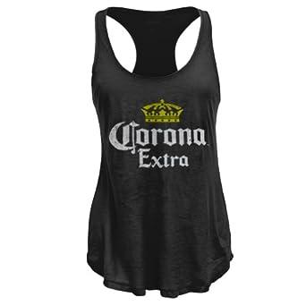 Amazon.com: Corona - Distressed Logo Juniors Tank Top - Small