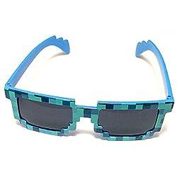 8-bit Pixel Retro Novelty Gamer Geek Sunglasses from Seus Corp Ltd.