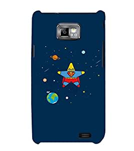 EPICCASE Space star Mobile Back Case Cover For Samsung Galaxy S2 (Designer Case)