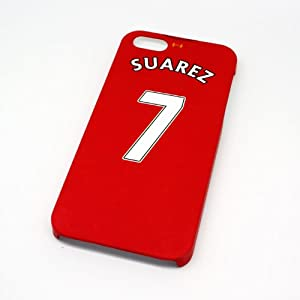 Liverpool FC Suarez Football Shirt Style Cover Case for iPhone 5/5s- Non Fade, Hard Wearing Rubberised Finish packaged in Presentation Box from SmartRestyle