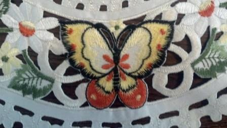 "34"" Table Runner Or Dresser Scarf With Multi-Color Butterfly front-878593"