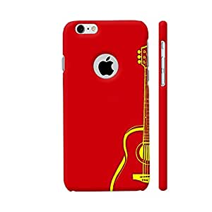 Colorpur Yellow Guitar On Red Artwork On Apple iPhone 6 / 6s Logo Cut Cover (Designer Mobile Back Case)   Artist: Miraculous