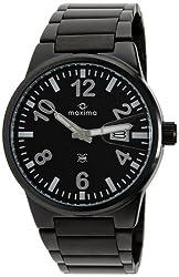 Maxima Attivo Analog Black Dial Mens Watch - 25290CMGB