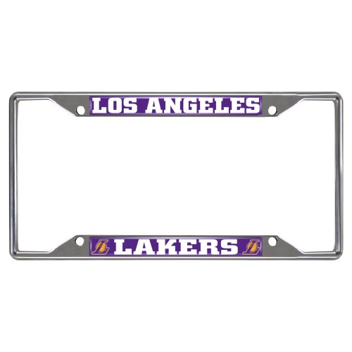 FANMATS NBA Los Angeles Lakers Chrome License Plate Frame (Farm License Plate Frame compare prices)