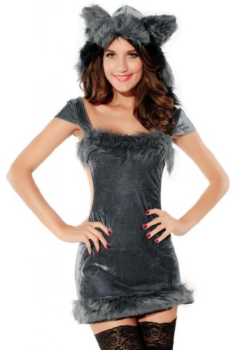 Dear-Lover Women's Naughty Raccoon Costume(pack of 3)