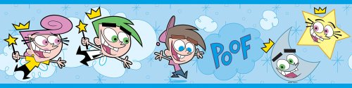 Brewster 147B02111 Nickelodeon Fairly Odd Parents Wall Border