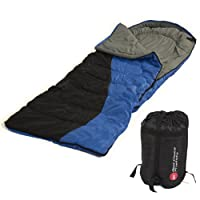 "Single Sleeping Bag 23f/-5c 2 Camping Hiking 84""x 55"" W Carrying Case  by Sky Enterprise USA"