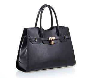 Fineplus Women's New Fashion Genuine Leather Shoulder Strap Tote Bag