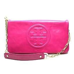 Tory Burch Magenta Leather Bombe Reva Clutch/ Shoulder Bag (Magenta Pink) #90009600