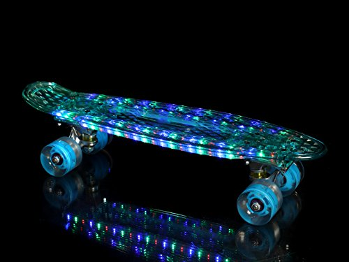 "High Bounce Complete 22"" Light Up Skateboard and Wheels(Blue)"