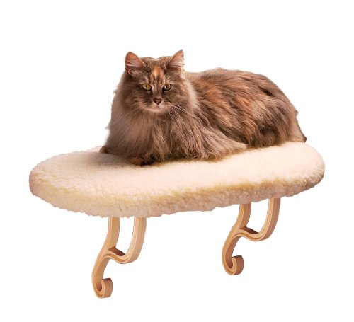 Heated Kitty Window Sill Perch Bed Fleece 14-Inch by 24-Inch