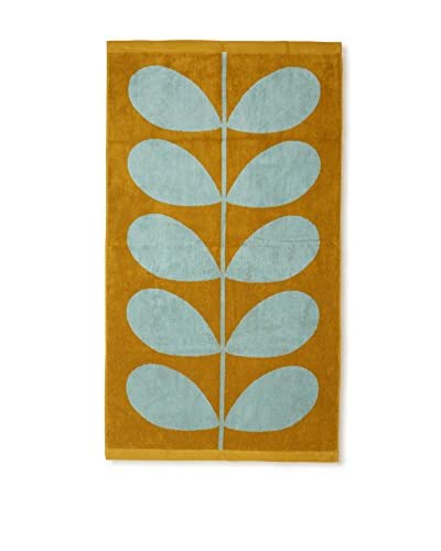 Orla Kiely Stem Jacquard Bath Towel, Duck Egg/Olive