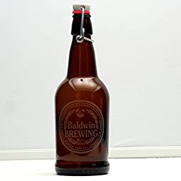 Personalized Engraved Growler with Beer Names Brewing Design   Custom Beer Gift