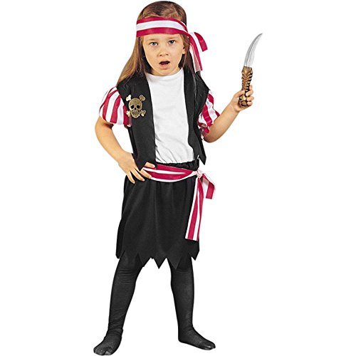 Child's Toddler Carribean Pirate Girl Costume (2-4T)