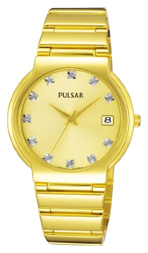 Pulsar Gold Dial Ladies Watch - PXH616X1