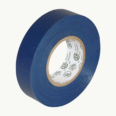"""Jvcc E-Tape Colored Electrical Tape, 66' Length X 3/4"""" Width, Blue"""