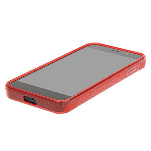 Easbuy Silikon Tasche für JIAYU G4 G4S G4C Smartphone Handy Tasche Hülle Case Handytasche Handyhülle Schutzhülle Etui Case Cover (Rot)