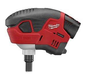Milwaukee M12 Cordless Palm Nailer Kit, 2458-21, red lithium battery from Milwaukee