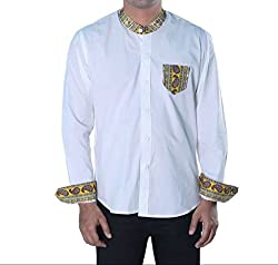 Riverbero Men's Casual Shirt (SN_DFS_207_White_40)