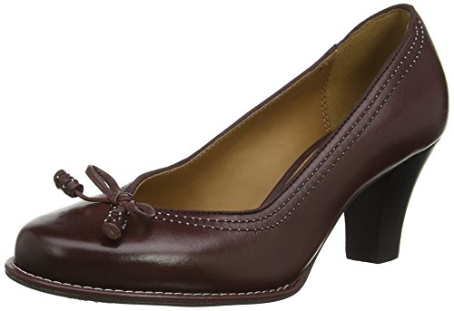 Clarks Bombay Lights, Decolleté chiuse donna, Rosso (Rot (Burgundy Leather)), 40