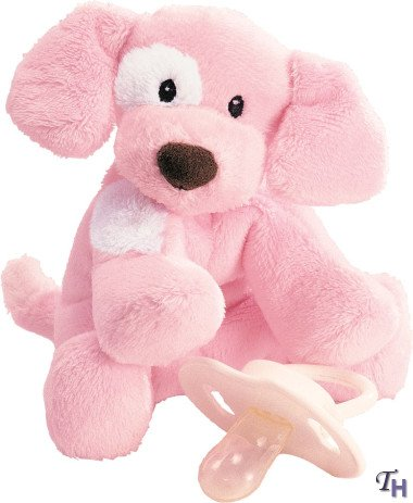 Spunky Puppy Baby Rattle - Pink