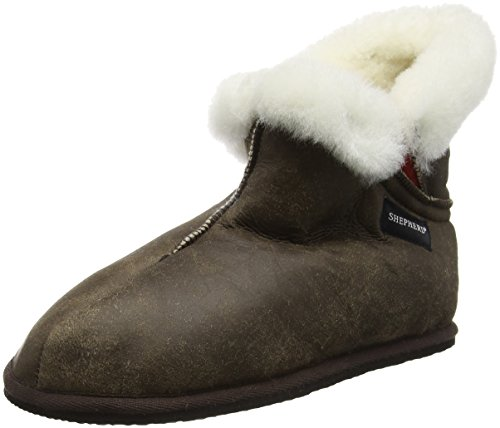 ShepherdOskar Slipper - Pantofole uomo , Marrone (Brown (Oiled Antique 53)), 42