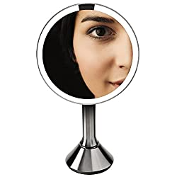 simplehuman Sensor Mirror - Sensor-Activated Lighted Makeup Mirror