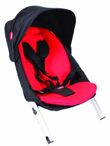 Phil And Teds Vibe2 Stroller Doubles Kit, Black/Red front-967243