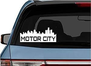 Stickerloaf brand motor city skyline car for Motor city pawn shop on 8 mile