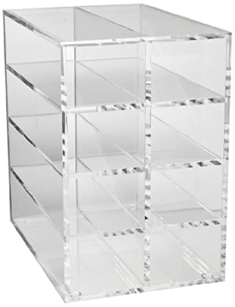 Heathrow Scientific HD23263A Acrylic Vertical Rack for 80-Well Microtube, 236mm Length x 157mm Width x 234mm Height