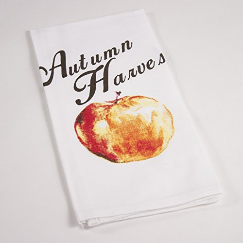 Autumn Harvest Apple White Natural Cotton Hand Towel (Cute Halloween Tombstone Sayings)