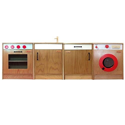 Obique giocattoli in legno per bambini set 4 unità da cucina ...