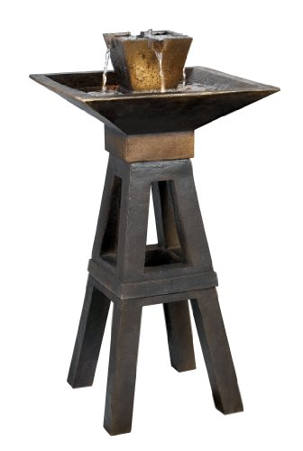 Kenroy Home #50613CPBZ Kenei Outdoor Floor Fountain in Copper Bronze Finish