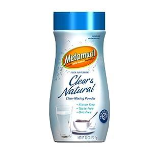 Metamucil Clear & Natural Clear-Mixing Powder 34 Servings 7 Oz