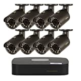 QSee 8 Channel 1080p HD Security System with 1TB Hard Drive, 8 1080p Bullet Cam