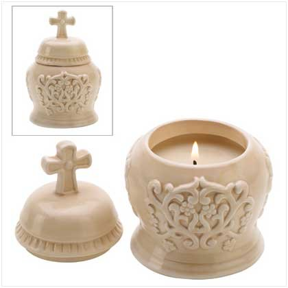 6 Cathedral Lidded Candles