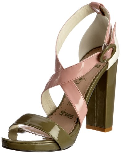 Killah Women's Lucy Green-Old Pink Ankle Strap M00843-PP9281-S50130 5 UK, 38 EU