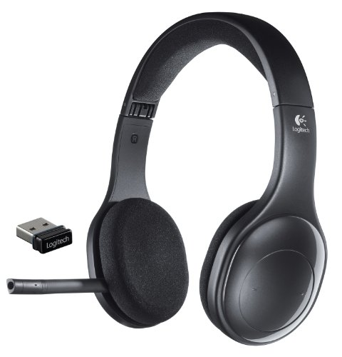Logitech H800 Binaural Over-the-Head Wireless Bluetooth Headset, 4 ft Range, Black,Black