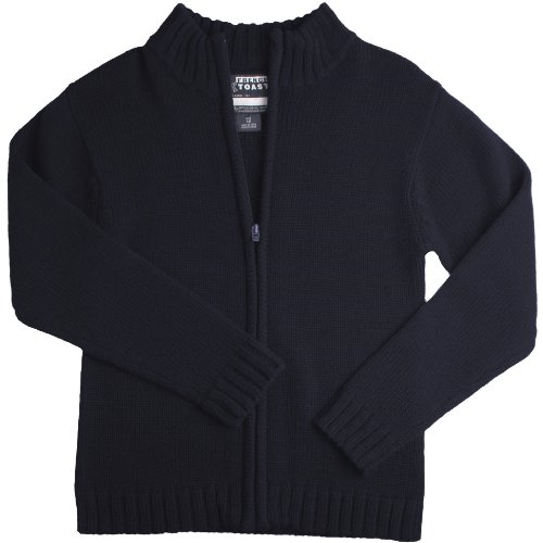 French Toast Little Boys' Zip Front Cardigan Sweater (Navy 7)