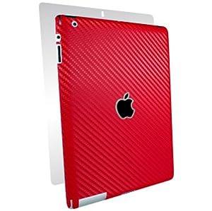 BodyGuardz Carbon Fiber Armor Full Body Skin for the Apple iPad (3rd Generation) - Red (BZ-ACRI3-0312)