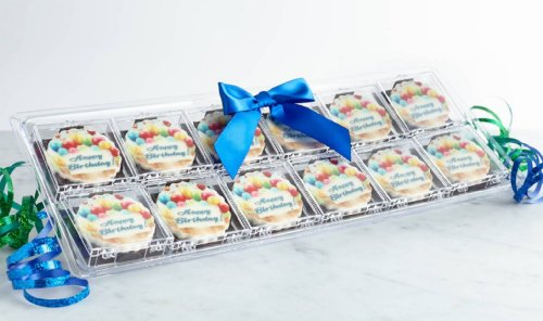 12 Pack Happy Birthday Chocolates Gift (Blue Ribbon)