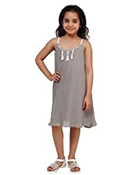 Oxolloxo Girls grey pleated dress