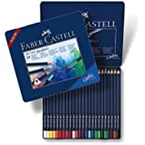 Faber-Castell Art GRIP Aquarelle Watercolor Pencils, tin of 24