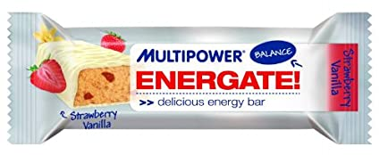 Multipower - Energate Balance Bar - Cocos, Schoko, Joghurt-Musli, Vanille-Erdbeer gemischt (24 Riegel im Karton)