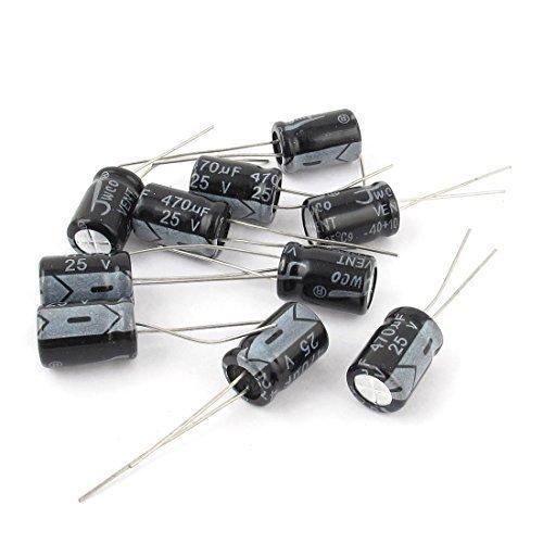 10 Pièces 25V 470uF 105C Tête Radiale Condensateur Électrolytique 8mm x 12mm