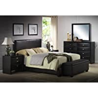 Ireland King Faux Leather Bed