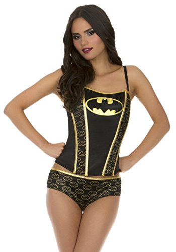 Underboss womens Batman Printed Corset And Panty Set at Gotham City Store
