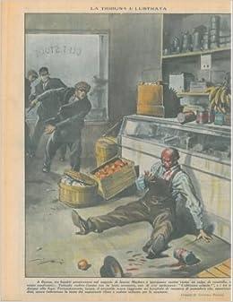 barattolo di conserva di pomodoro e il negoziante cadde solo per lo